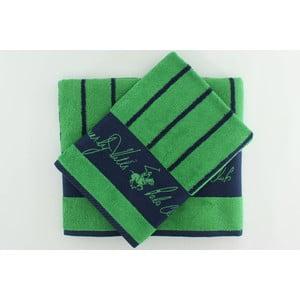 Sada 2 uterákov BHPC 50x100 + 80x150 cm, zelená