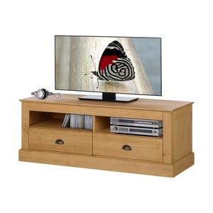 Prírodný TV stolík z borovicového dreva Støraa Tommy