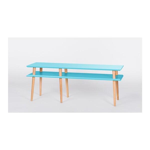 Konferenčný stolík Mugo Tmavo tyrkysová, 159 cm
