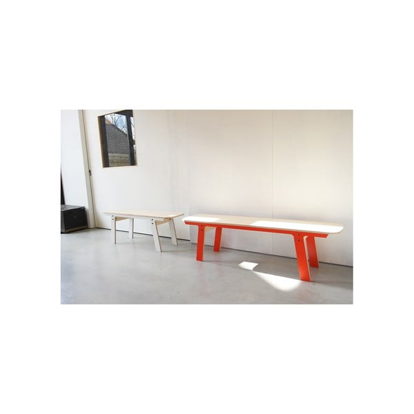 Biela lavica na sedenie rform Slim 01, dĺžka 133 cm