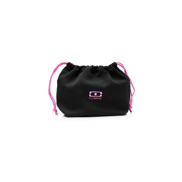 Vrecko na desiatový box Monbento Black/Pink