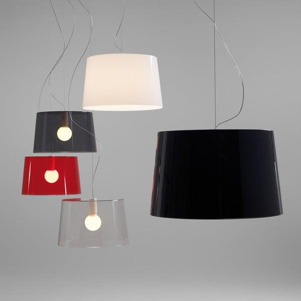 Čierne závesné svetlo Pedrali L001S/B