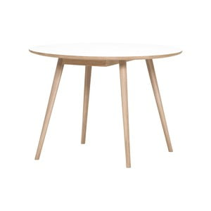 Hnedo-biely jedálenský stôl WOOD AND VISION Round, ⌀ 105 cm