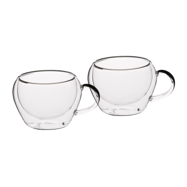 Dva sklenené hrnčeky na espresso  Kitchen Craft   Le'Xpress, 80 ml