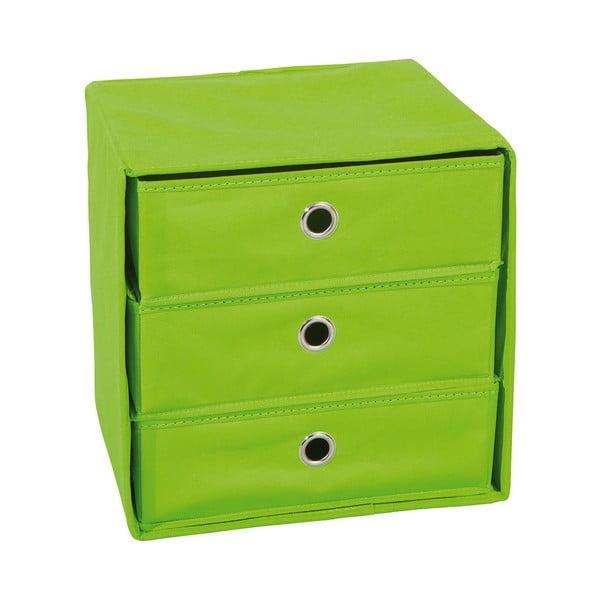 Zelený úložný box so zásuvkami 13Casa Lolly