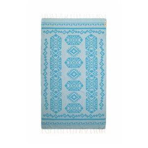 Modrá hammam osuška Begonville Ottoman, 95x175cm