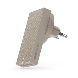 Béžová nabíjačka s 2 USB porty Native Union Smart Charger