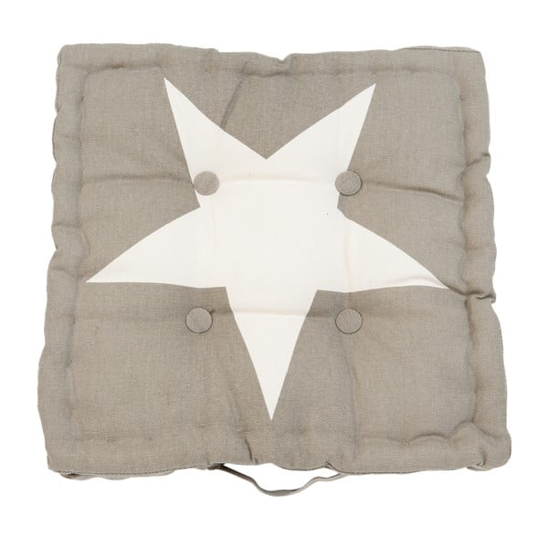 Vankúš Clayre Star, 40x40 cm, hnedý