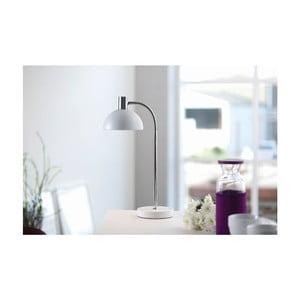 Biela stolová lampa Herstal Vienda