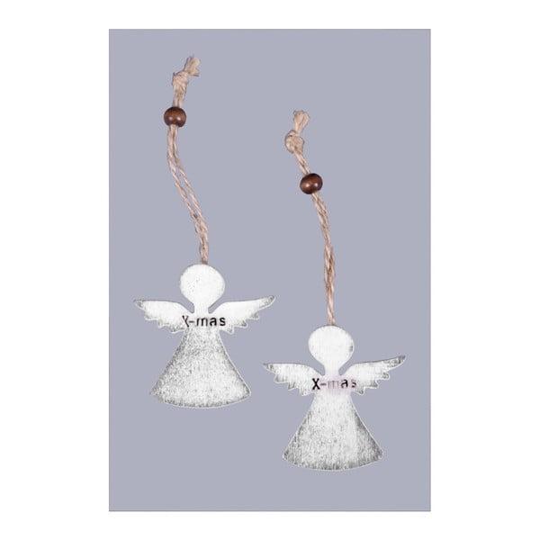 Sada 6 vianočných ozdôb v tvare anjelikov Ego Dekor