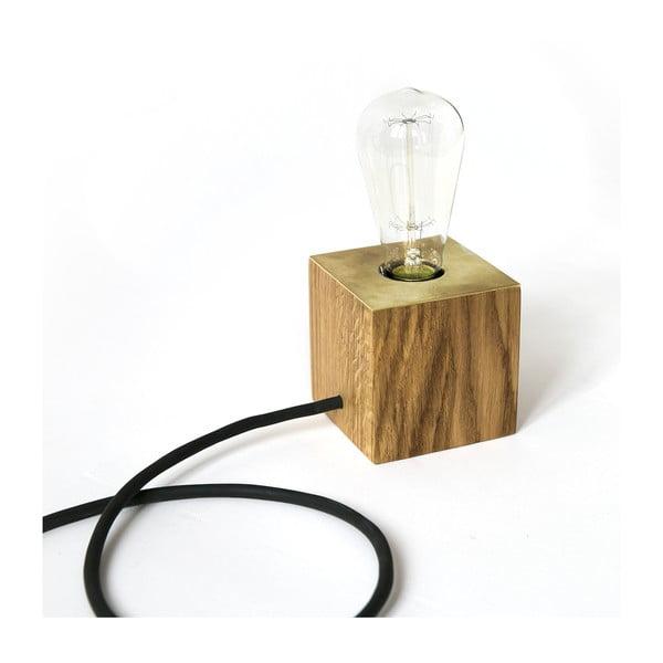Stolová lampa NUTSANDWOODS Oak Brass