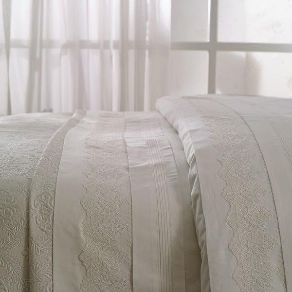 Set obliečok, prestieradla a prikrývky Nilufer Ecru, 200x220 cm