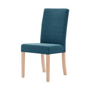Tyrkysová stolička s hnedými nohami Ted Lapidus Maison Tonka