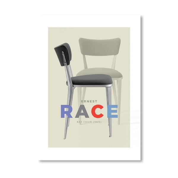Autorský plagát Ernest Race Chair