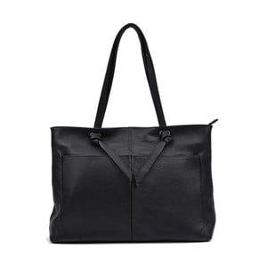 Čierna kožená kabelka Anna Luchini Layo