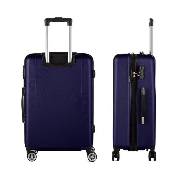 Tmavomodrý cestovný kufor Berenice Wings, 71 l