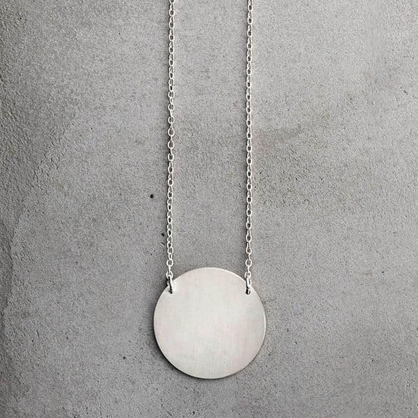 Náhrdelník Disk Silver z kolekcie Geometry