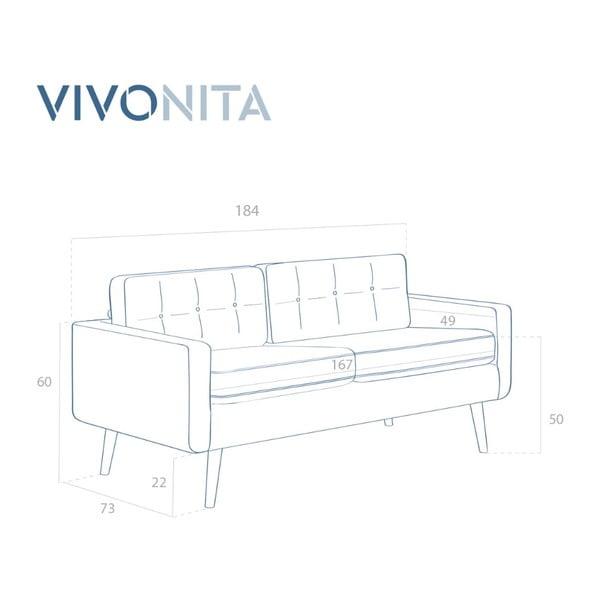 Horčicovožltá trojmiestna pohovka Vivonita Ina Trend