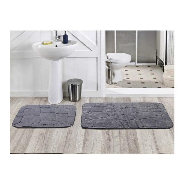 Sada 2 kúpeľňových koberčekov Dekoreko Gri, 50x60 cm + 60x100 cm