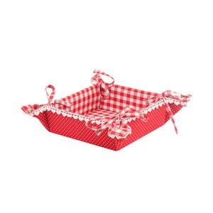 Košík na pečivo Basic Hearts, červený