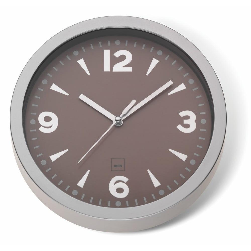 Hnedé nástenné hodiny Kela Stockolm, ø 20 cm