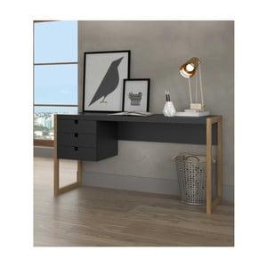Sivý písací stôl zborovicového dreva SOB Derrick