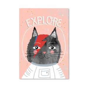 Plagát od Mia Charro - Cat Astronaut