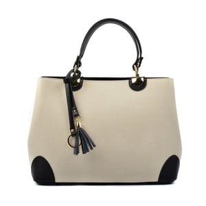 Béžová kožená kabelka s Čiernymi detaily Isabella Rhea Mismo
