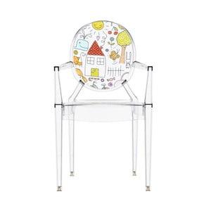 Detská transparentná stolička Kartell Lou Lou Ghost Family House