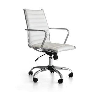 Pracovná stolička na kolieskach Pandora, biela