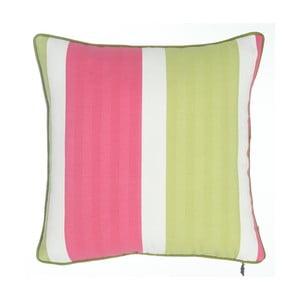 Ružovo-zelená obliečka na vankúš Apolena Stripes, 43×43cm