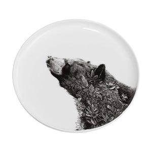 Dezertný tanierik z kostného porcelánu Maxwell & Williams Marini Ferlazzo Black Bear, ⌀ 20 cm