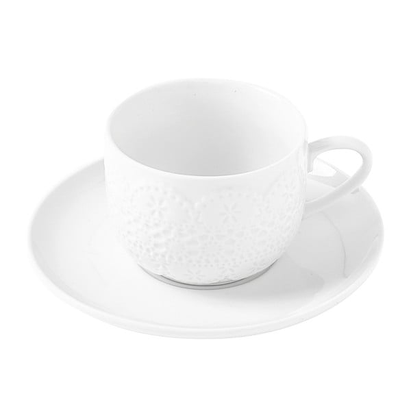 Hrnček s tanierikom Krauff Lacy Cappuccino
