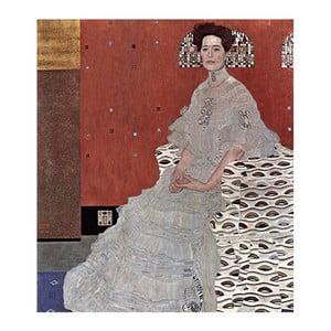 Obraz Gustav Klimt - Fritza Riedler, 50x45 cm