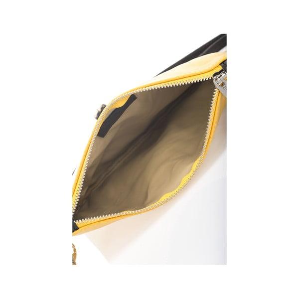 Kožená kabelka Krole Kody, žltá
