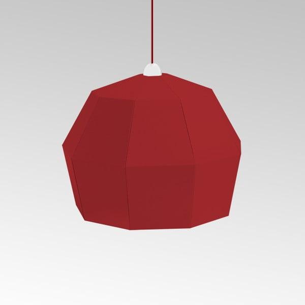 Kartónové svietidlo Uno Fantasia A Red, s červeným káblom