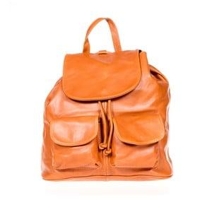 Koňakovohnedý kožený batoh Italia in Pogress Jane