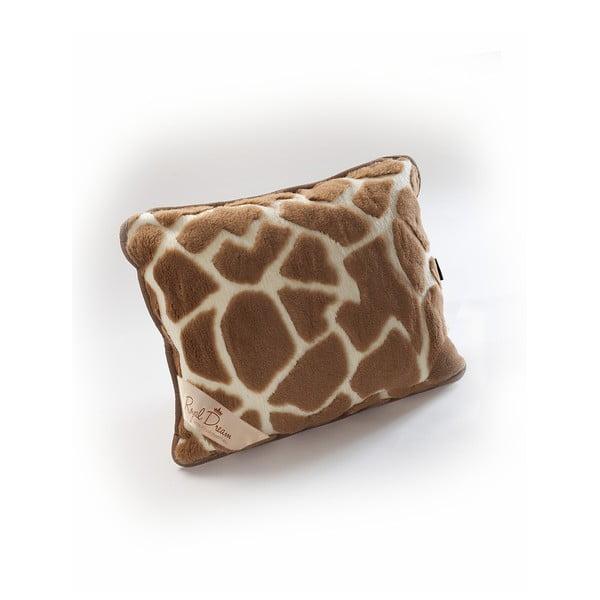 Vlněný hnedo-béžový vankúš Royal Dream Camel Shapes, 50×60 cm