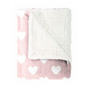 Detský pléd Mistral Home Amore pink, 130x170 cm