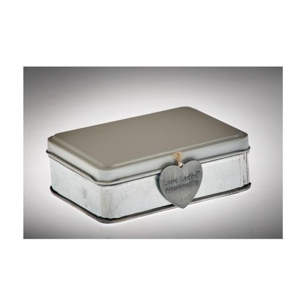 Krabička Metallo Bianca