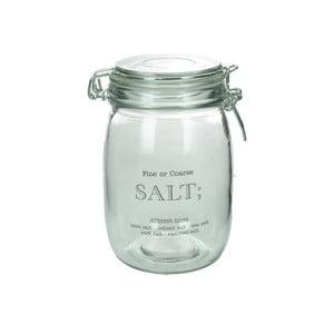 Sklenená dóza na soľ Salt