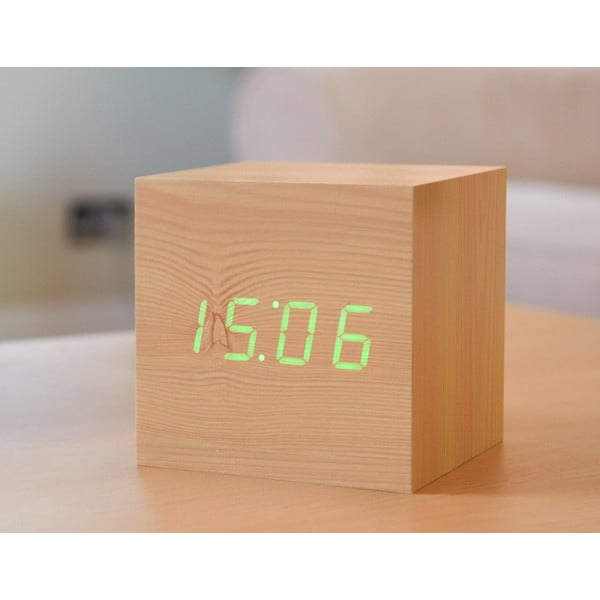 LED budík Click Clock Maxi Green
