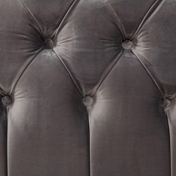 Sivá posteľ z bukového dreva s čiernymi nohami Vivonita Allon, 160 × 200 cm