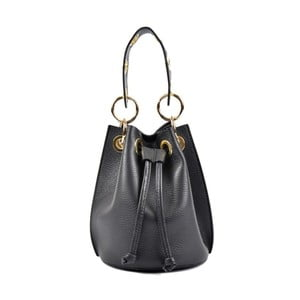 Čierna kožená kabelka Roberta M Callisto Nero