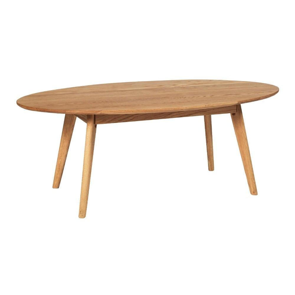 Prírodný konferenčný stolík z dubového dreva Folke Yumi, 130 × 65 m