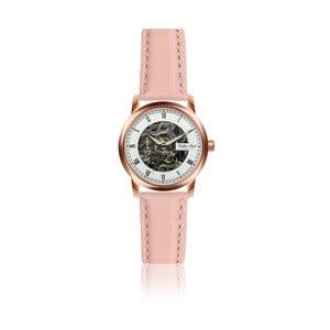Dámske hodinky s ružovým remienkom z pravej kože Walter Bach Miria