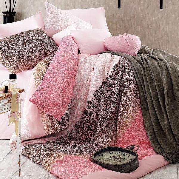 Obliečky s plachtou Damask Pink, 160x220 cm