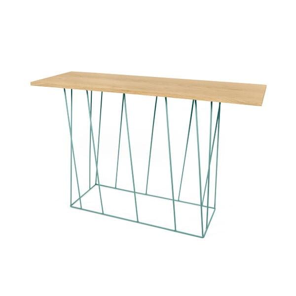 Konzolový stolík so zelenými nohami TemaHome Helix