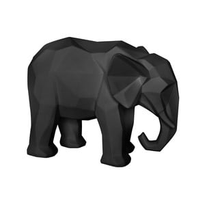 Matne čierna soška PT LIVING Origami Elephant