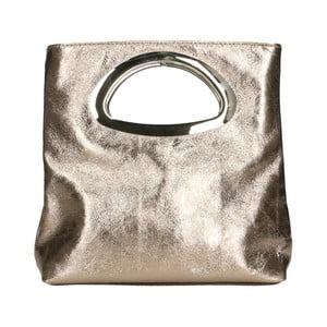 Kožená kabelka v bronzovej farbe Chicca Borse Lumino
